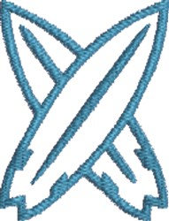 Crossed Surfboards 1 embroidery design