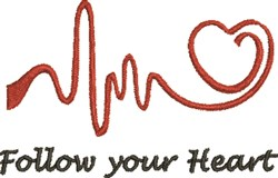 EKG Heart 4A embroidery design