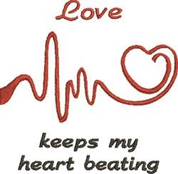 EKG Heart 4B embroidery design