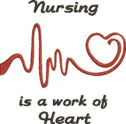 EKG Heart 4D embroidery design