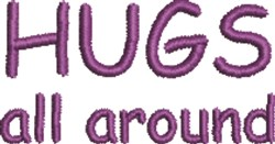 Hugs All Around 1 embroidery design