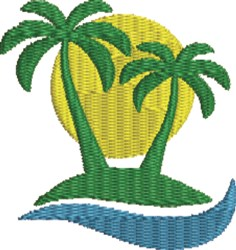 PalmTree 3 embroidery design