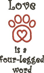 Paw Heart 3A embroidery design