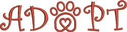 Paw Heart 3C embroidery design