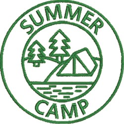 Summer Camp 11 embroidery design