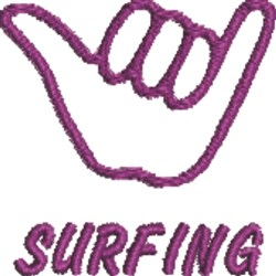 Surfer 3 embroidery design