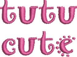 Tutu Cute 1 embroidery design