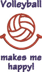 Volleyball 7A embroidery design