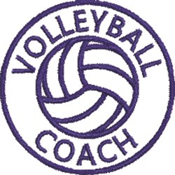 Volleyball Seal 1B embroidery design