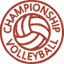 Volleyball Seal 1C embroidery design