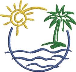Beach Scene 2 embroidery design