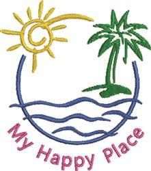 Beach Scene 2C embroidery design