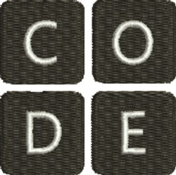 Coding 1 embroidery design