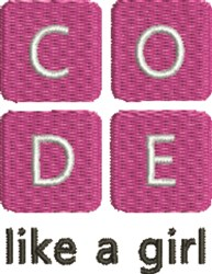 Coding 1A embroidery design
