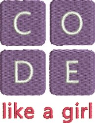 Coding 1C embroidery design