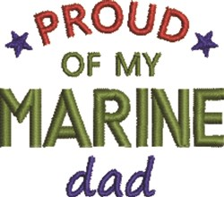 Marine Dad 1 embroidery design