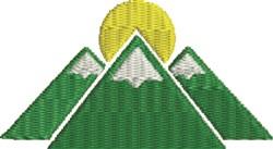 Mountain Sun 1 embroidery design