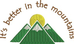 Mountain Sun 1B embroidery design