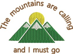 Mountain Sun 1C embroidery design