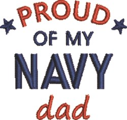 Navy Dad 1 embroidery design