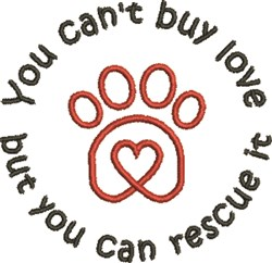 Paw Heart 3F embroidery design