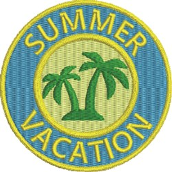 Summer Vacation 1 embroidery design