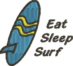 Surfboard 1A embroidery design
