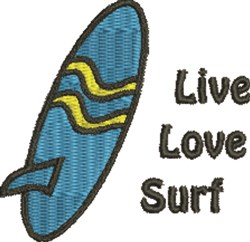 Surfboard 1B embroidery design