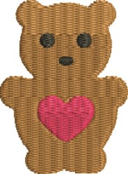 Teddy Bear 3 embroidery design
