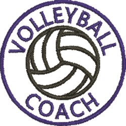 Volleyball Seal 2B embroidery design