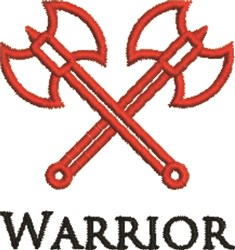 Warrior Battle Axe Outline embroidery design