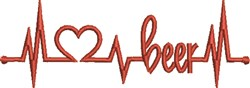 Beer Life Heartbeat embroidery design