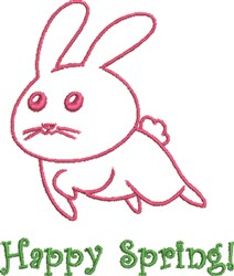 Happy Spring Bunny embroidery design