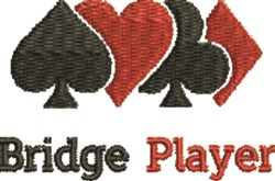 Bridge Player embroidery design