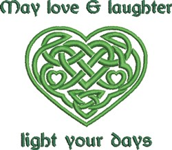 Love & Laughter Celtic Heart embroidery design