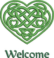 Celtic Heart Welcome embroidery design