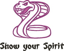 Show Your Spirit embroidery design