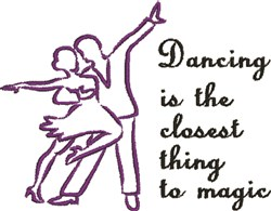 Dancing Is Magic embroidery design