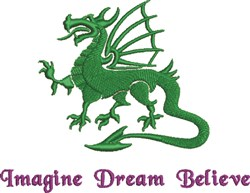Imagine Dream Believe embroidery design