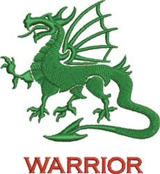 Warrior Dragon embroidery design