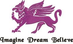 Imagine Dream Believe Griffin embroidery design