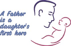 Father & Daughter embroidery design