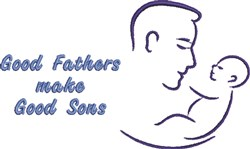 Good Fathers, Good Sons embroidery design