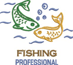Fishing Professional embroidery design