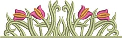 Floral Tulip Border embroidery design