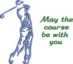 Lets Golf! embroidery design
