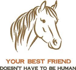Horse Best Friend embroidery design
