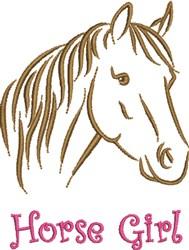 Horse Girl embroidery design