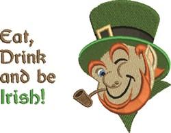 Eat, Drink & Be Irish! embroidery design