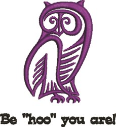 "Be ""HOO"" You Are! embroidery design"